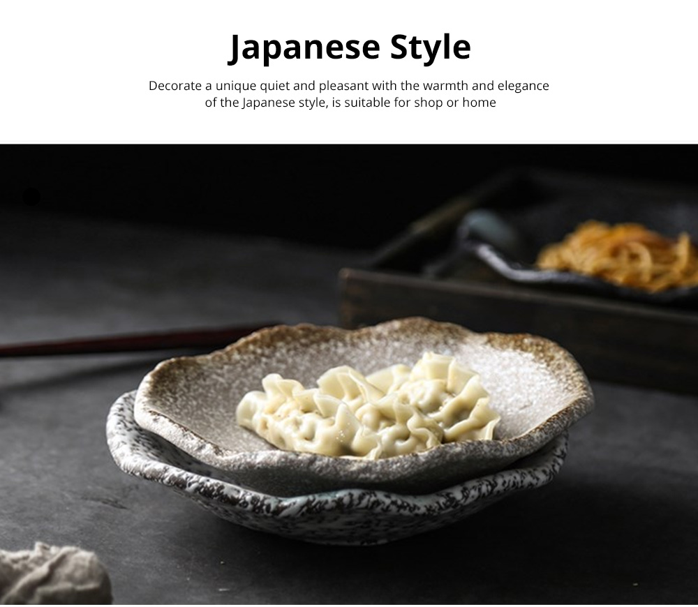 Creative Ceramic Sauce Dishes Seasoning Cuisine Small Ceramic Colorful Retro Dishes Kitchen Dinner Plate 1