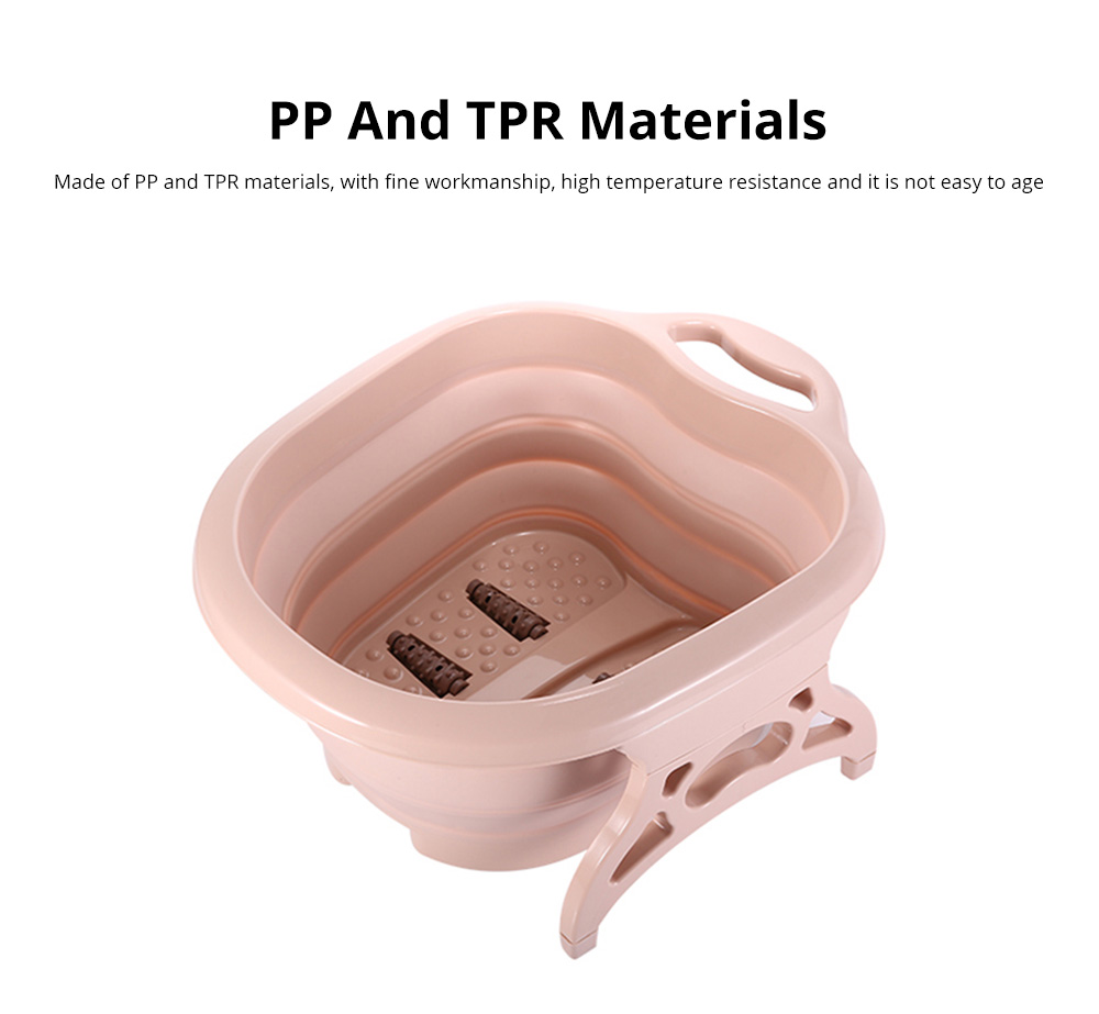 Multi-Function Collapsible Folding Footbath Basin Foot Camping Foldable Foot Bath Tub Silicone Eco-friendly 10