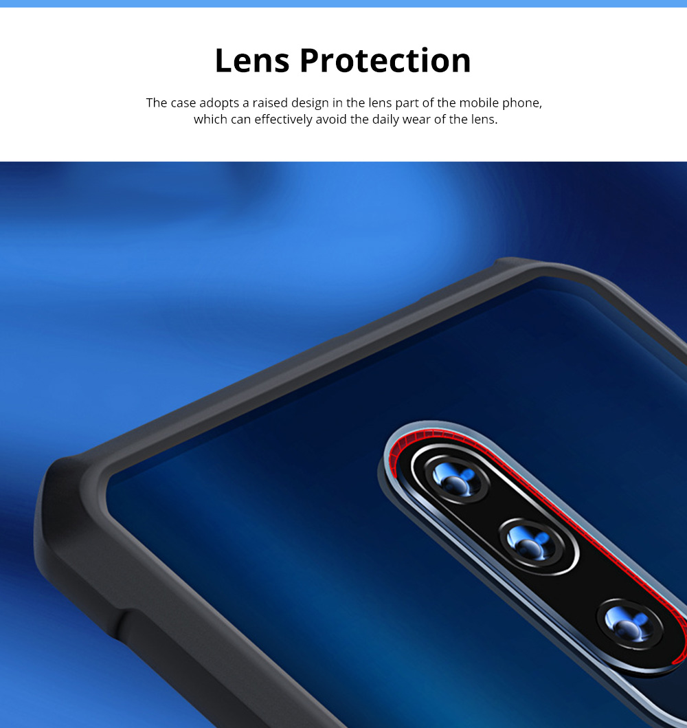 For OnePlus 7T Anti Falling Mobile Phone Case Silicone Shockproof Case with Lanyard Hole 1+ 7T Pro Mobile Phone Full Edge Transparent Protective Case 4