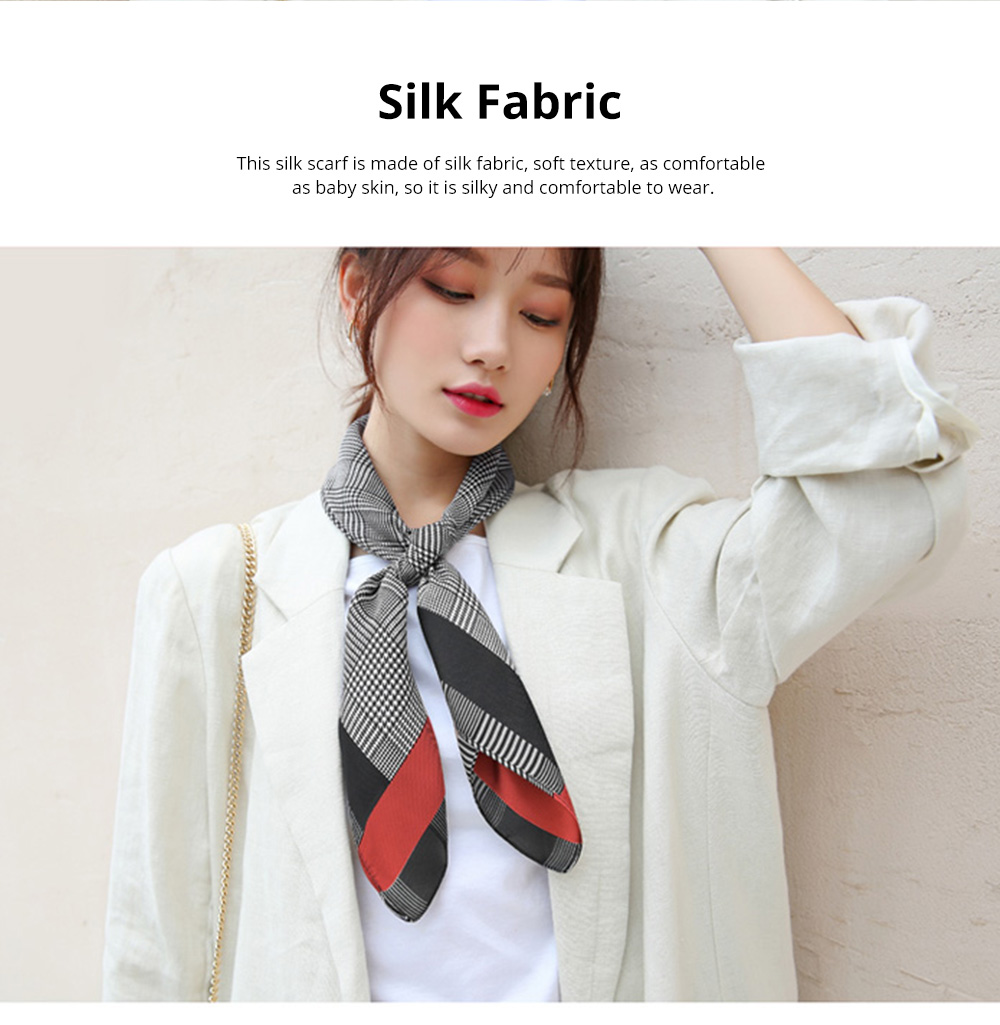 Autumn and Winter Style Fashionable Small Square Scarf Versatile Scarf Neck Protection Korean Small Scarf 2