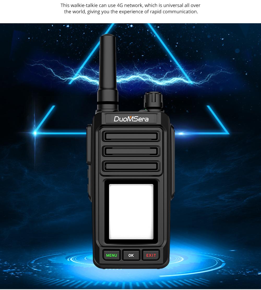 National Walkie-talkie 4G All Network Plug-in Wireless Walkie-talkie 5000 KM Unlimited Distance for Outdoor Handsets Intercom 2