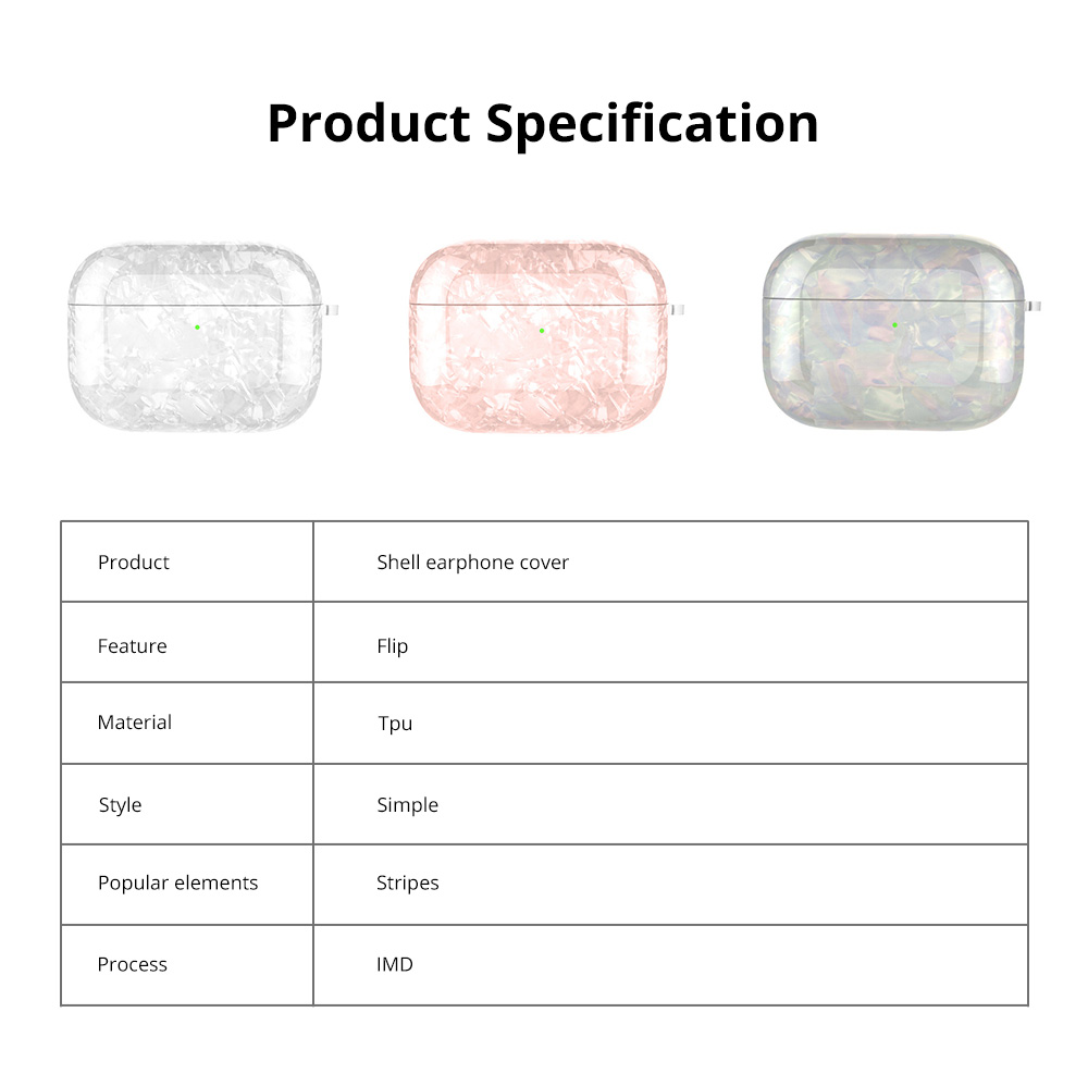 New Design Slim IMD Shell Pattern Shockproof Anti Scratch Protective Fit Soft TPU Bluetooth Earphone Cover Case For Airpods Pro 12