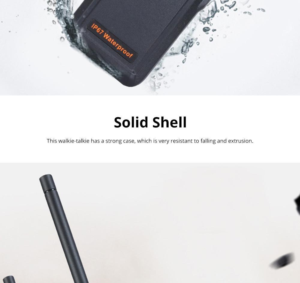 Civil Wireless Walkie-talkie High-power Long-distance Civil Wireless Handset IP67 Waterproof Outdoor Rescue Handset 3