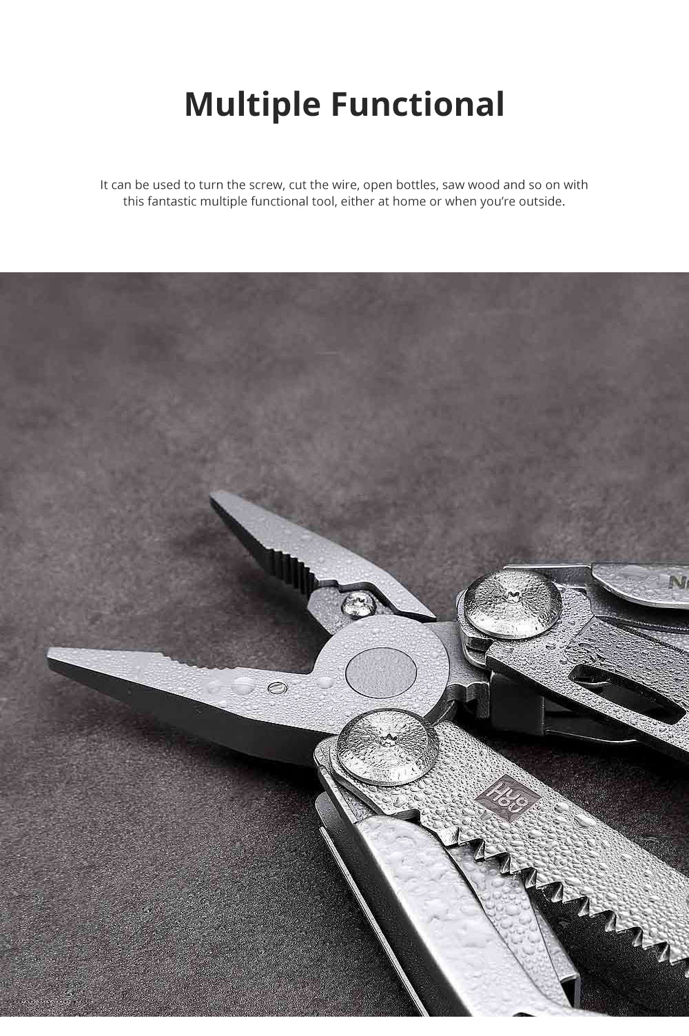 Xiaomi Huohou High Quality Multiple Functional Foldable Knife Tools Portable Durable Mini-sized Scissors Pliers with 15 Functions 1
