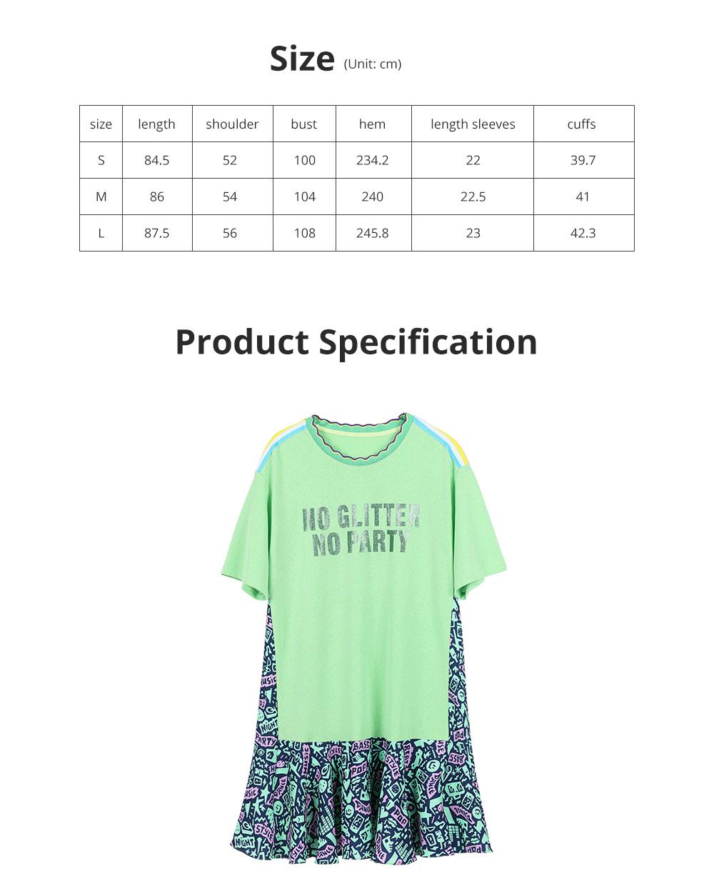 Summer New European Style Fashionable Avocado Green One-piece Fresh Leisure A-shape Dress For Girls Womens 5