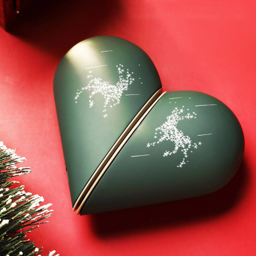 Lovely Heart Hand Warmer for Gift Choice Portable USB Rechargeable Electric Warming Treasure Easy to Carry Power Bank Hand Warmer With Gift Package Best Wishes 11