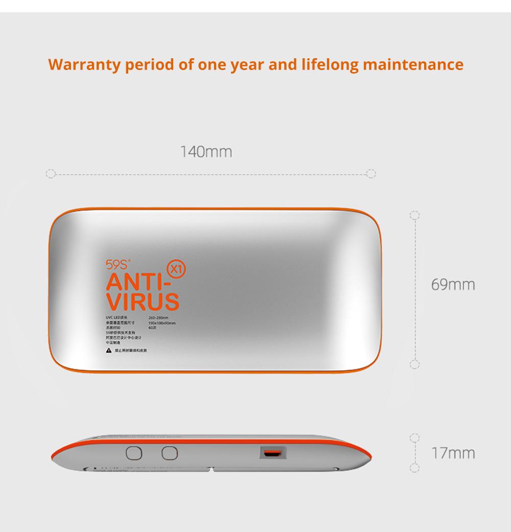 Portable Ultraviolet Sterilizer for Gauze Mask Smartphones Medical Level LED UV Sterilization Device FDA Certified Lightweight Sterilizer Designed By Alibaba Design 9