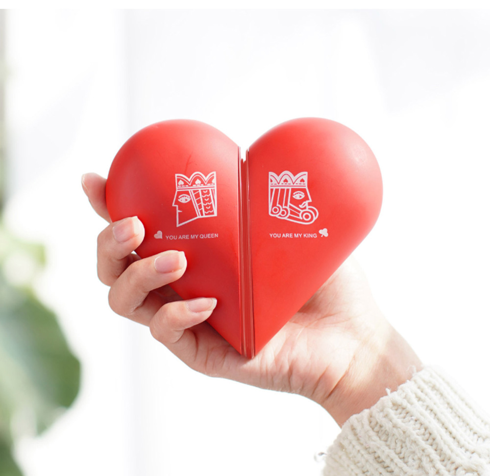 Lovely Heart Hand Warmer for Gift Choice Portable USB Rechargeable Electric Warming Treasure Easy to Carry Power Bank Hand Warmer With Gift Package Best Wishes 2