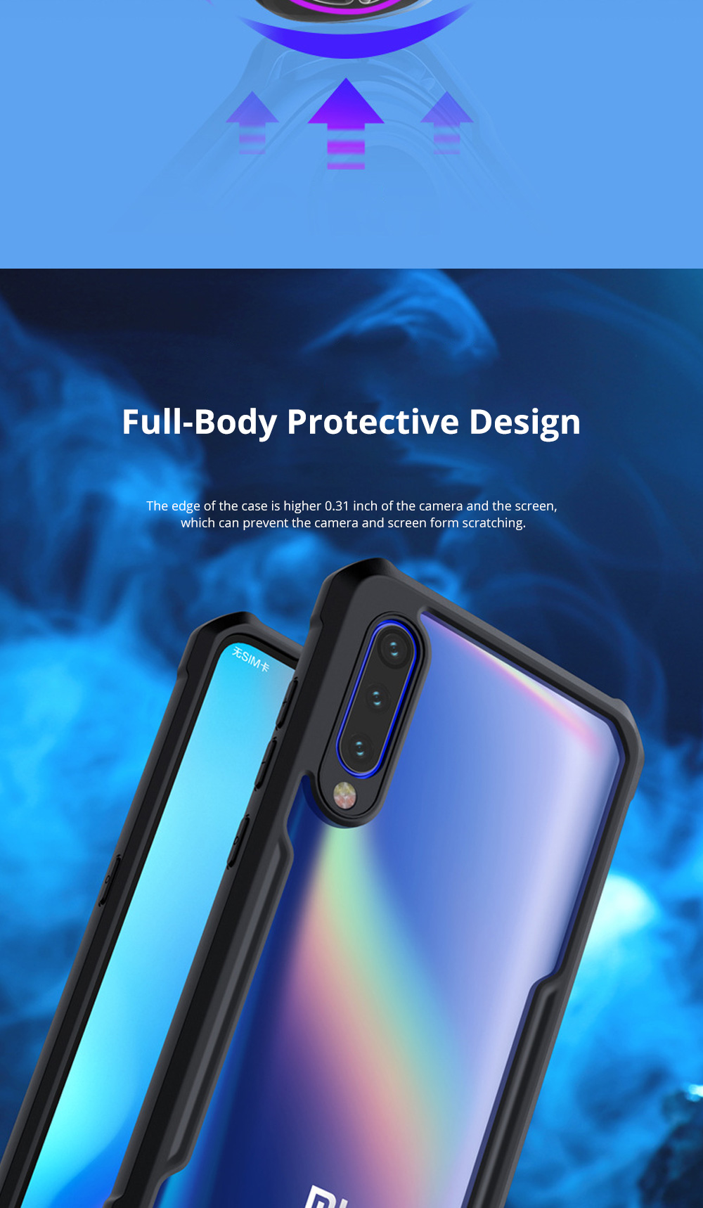 For Xiaomi Phone Case with Full-Body Protection Soft TPU Cell Phone Case with True Airbag Protection and Hanging Hole 2