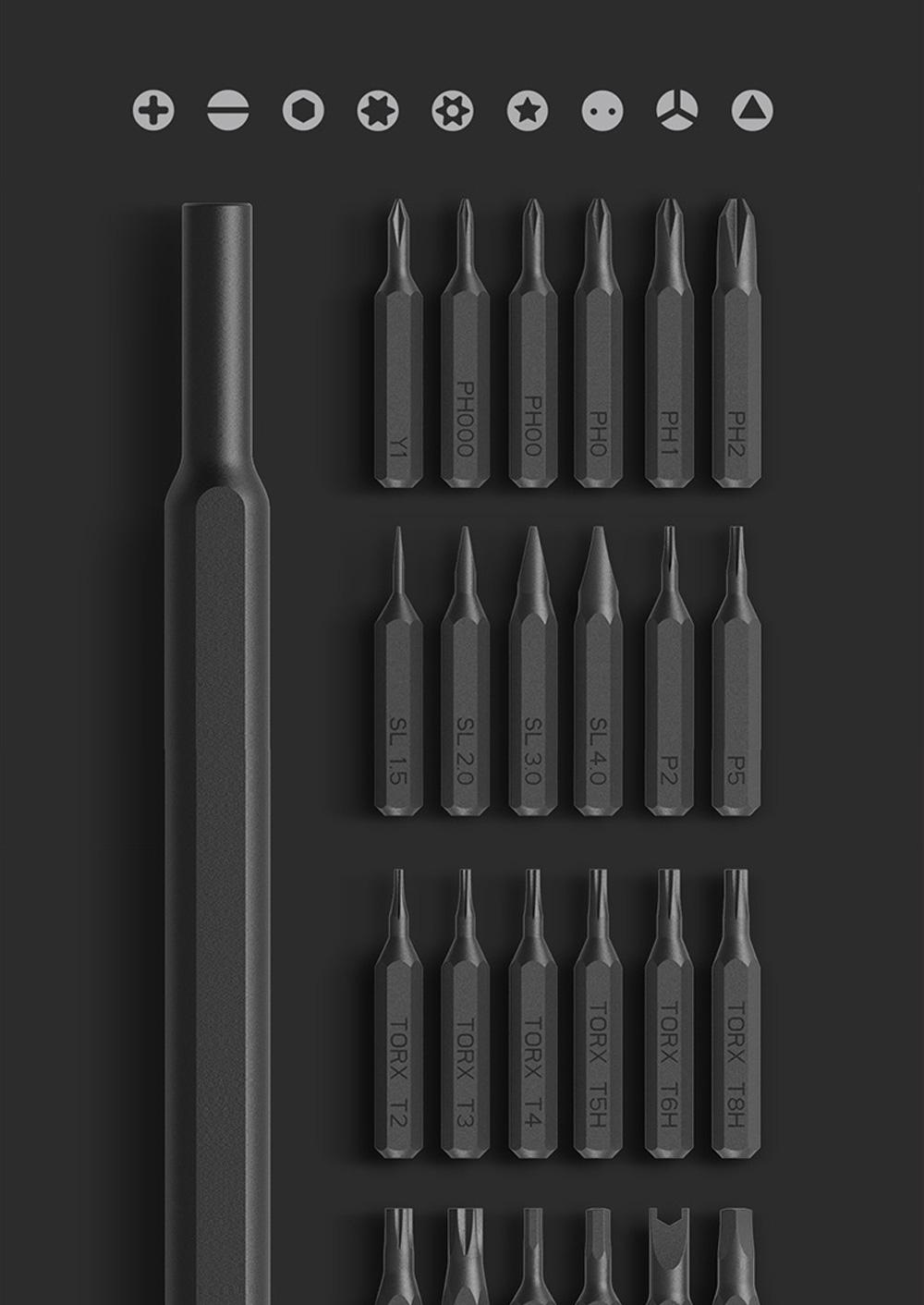 MI Wiha Precision Screwdrivers Set 25 in 1 Household Repair Tool Kits with Aluminum Storage Box for Appliance Repair 1