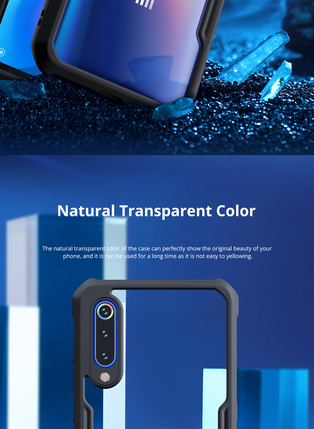 For Xiaomi Phone Case with Full-Body Protection Soft TPU Cell Phone Case with True Airbag Protection and Hanging Hole 3