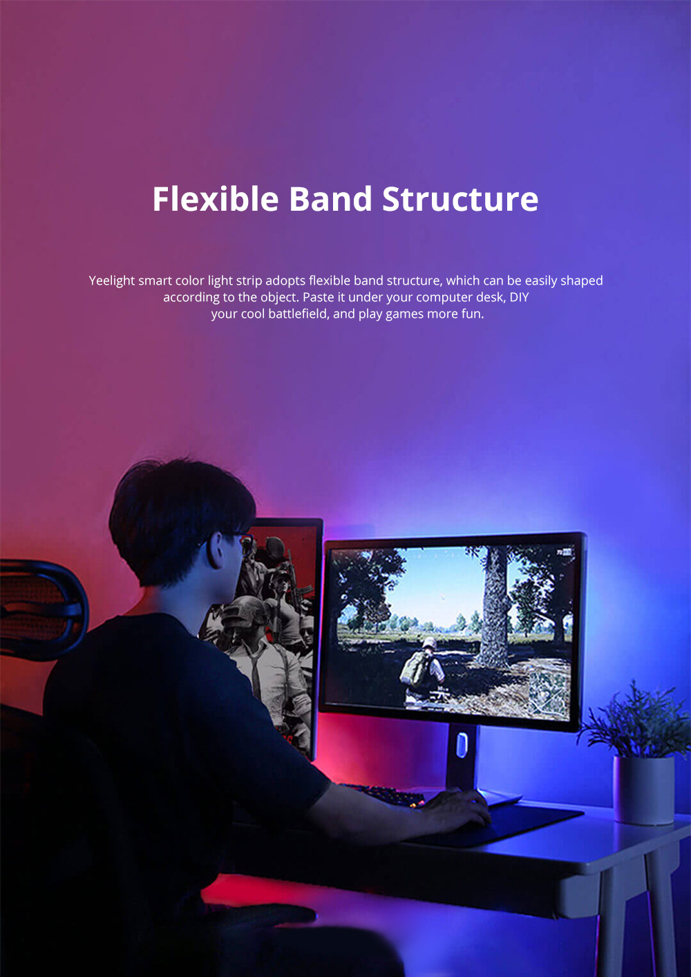 XIAOMI Smart LED Strip Lights Flexible Color Changing Light Strip with IR Remote Controller for Home Lighting Bedroom Bar Party 1
