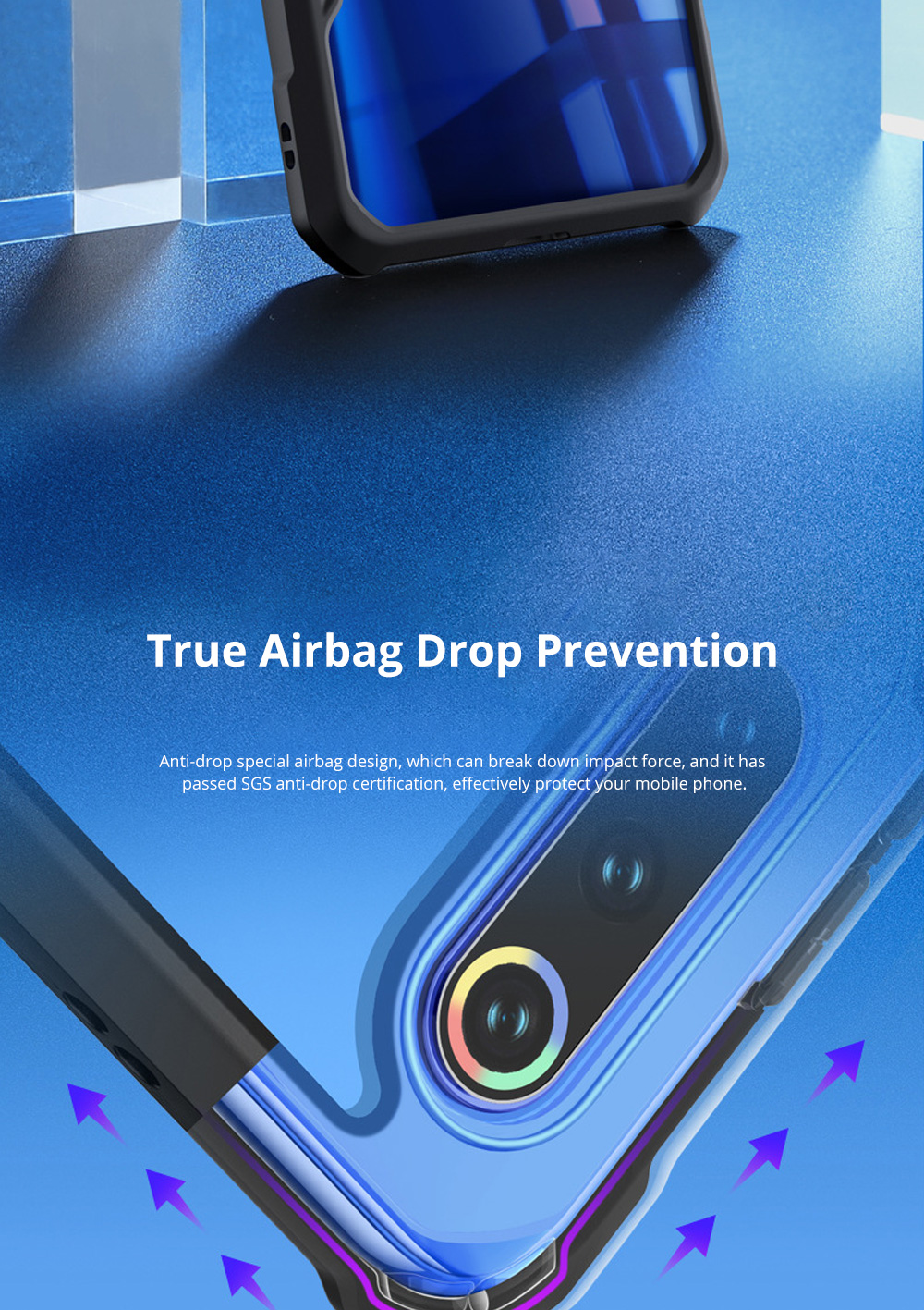 For Xiaomi Phone Case with Full-Body Protection Soft TPU Cell Phone Case with True Airbag Protection and Hanging Hole 1
