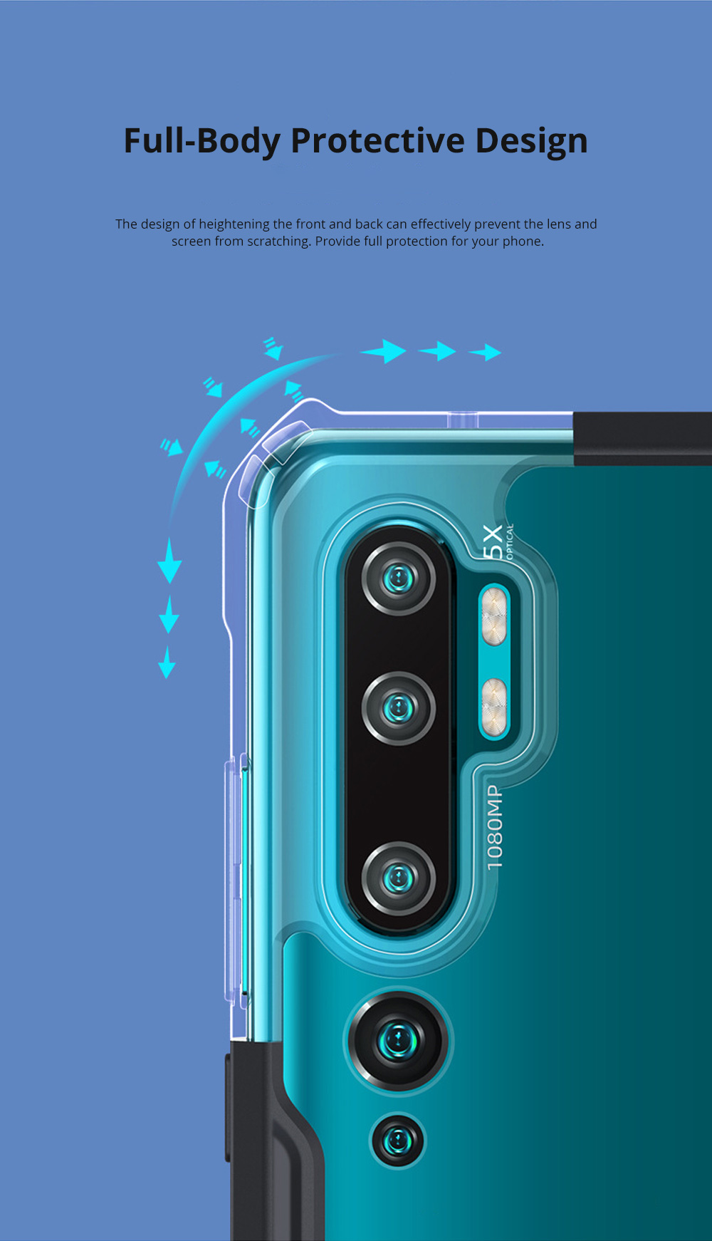 Xiaomi Note10 Pro Case Soft TPU Transparent Slim Fit Case for Xiaomi CC9 Pro Scratch Resistant Phone Case with Full-Body Protection 2