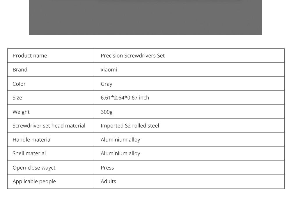 MI Wiha Precision Screwdrivers Set 25 in 1 Household Repair Tool Kits with Aluminum Storage Box for Appliance Repair 7
