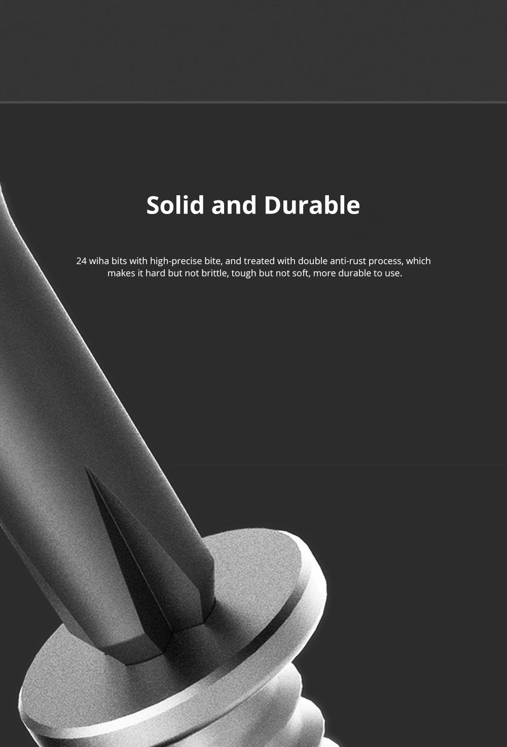 MI Wiha Precision Screwdrivers Set 25 in 1 Household Repair Tool Kits with Aluminum Storage Box for Appliance Repair 3