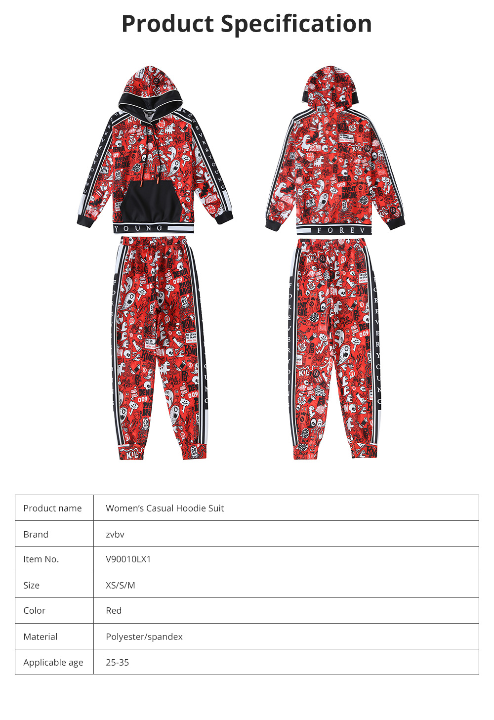 Women's Tracksuit with Vibrant Color 2 Piece Sets Casual Hoodie Suit with Close-Up Sleeve and Leg Openings 7