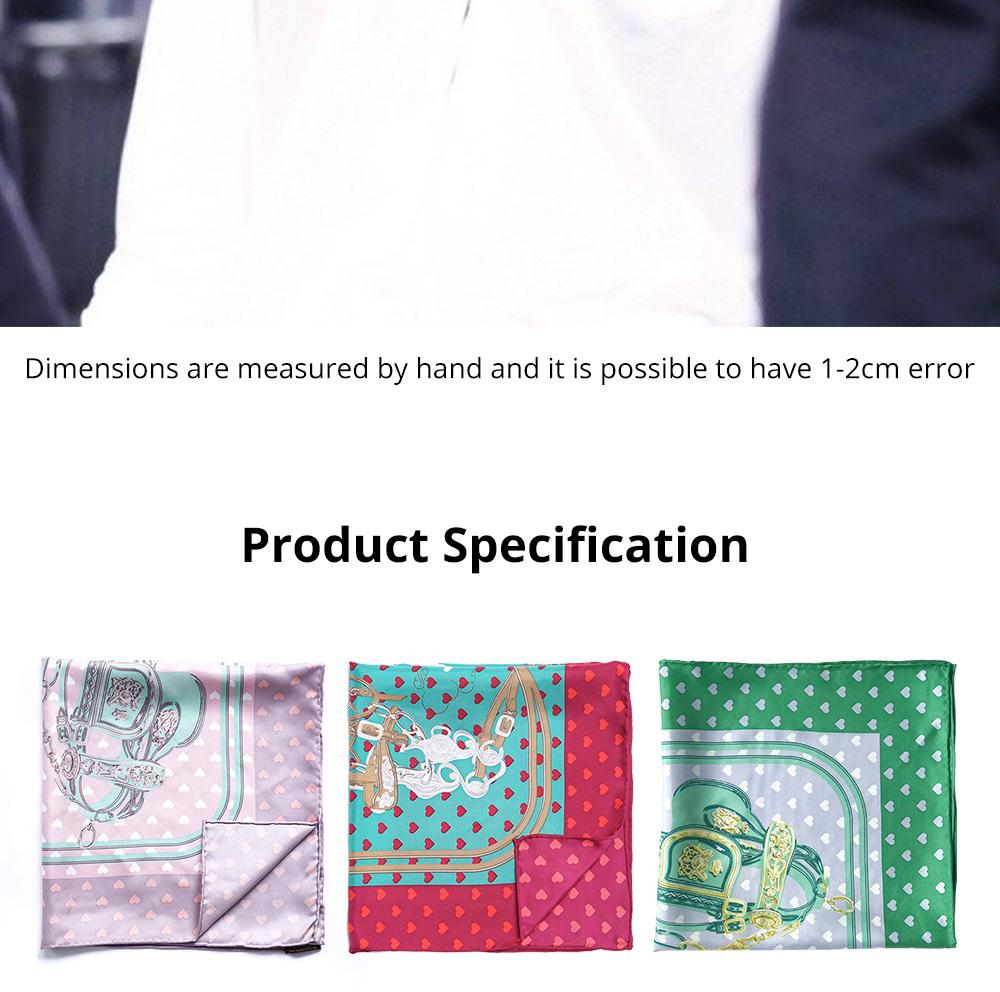 Retro Style Kerchief for Women Use Contrast Color Real Silk Mini Kerchief Fashionable Twill Kerchief 6