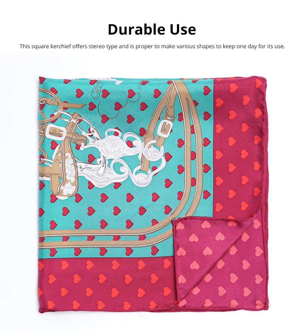 Retro Style Kerchief for Women Use Contrast Color Real Silk Mini Kerchief Fashionable Twill Kerchief 2
