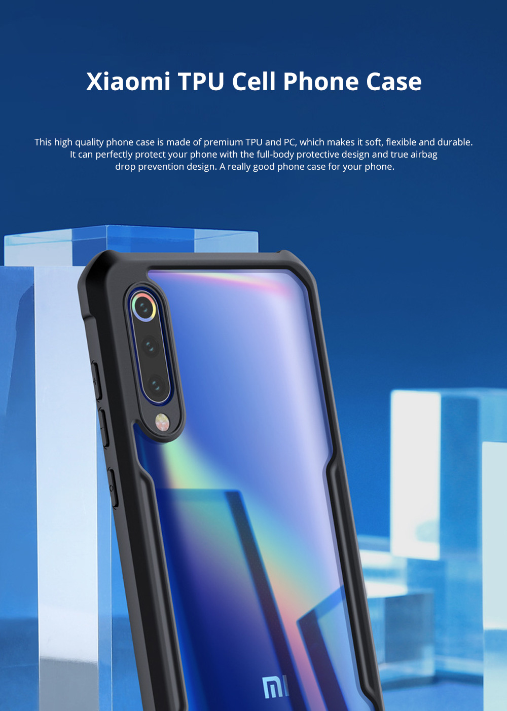 For Xiaomi Phone Case with Full-Body Protection Soft TPU Cell Phone Case with True Airbag Protection and Hanging Hole 0