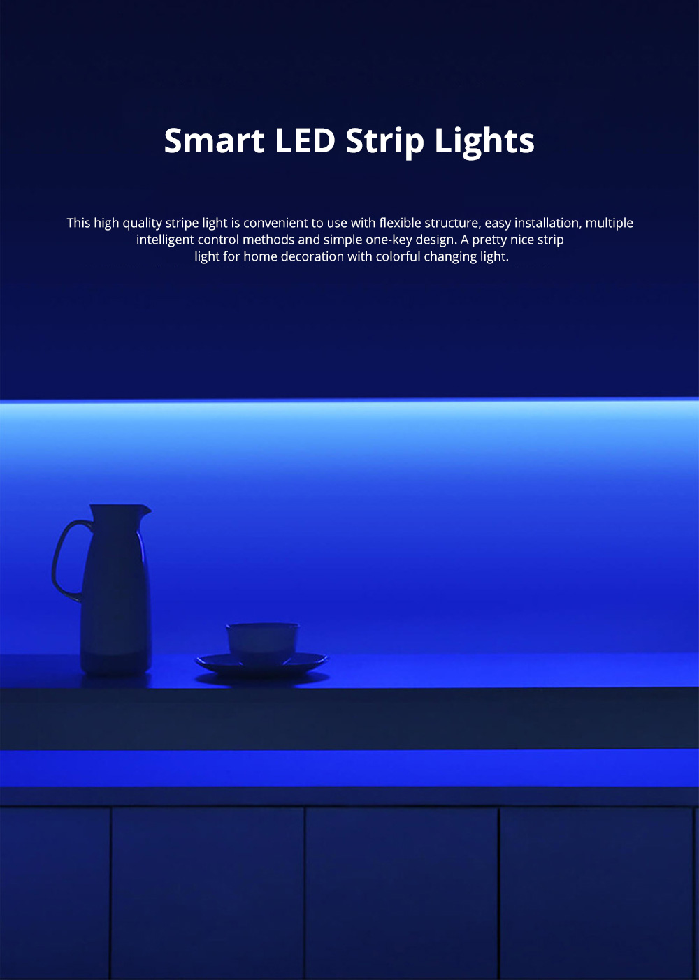 XIAOMI Smart LED Strip Lights Flexible Color Changing Light Strip with IR Remote Controller for Home Lighting Bedroom Bar Party 0