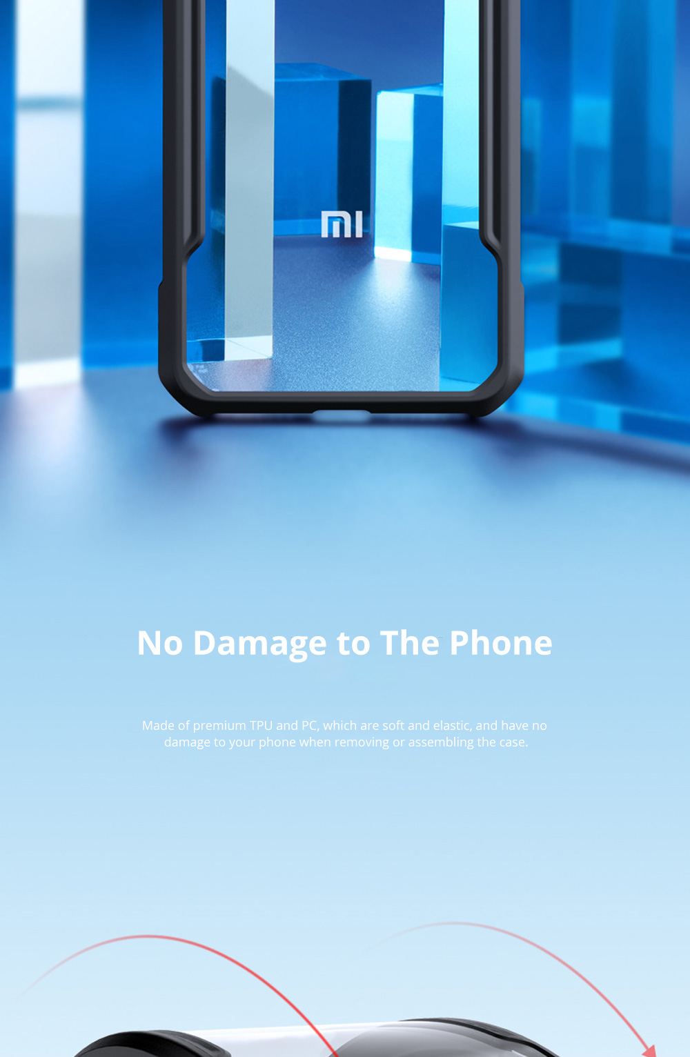 For Xiaomi Phone Case with Full-Body Protection Soft TPU Cell Phone Case with True Airbag Protection and Hanging Hole 4