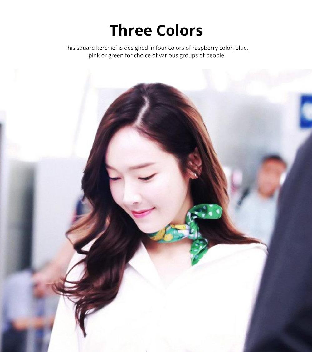 Retro Style Kerchief for Women Use Contrast Color Real Silk Mini Kerchief Fashionable Twill Kerchief 5