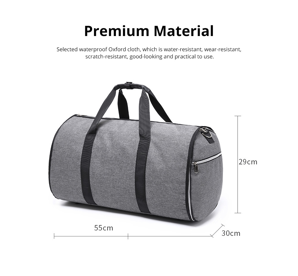 Waterproof Duffel Gym Bag for Men and Women Large Capacity Travel Suit Storage Bag with Muti Layers for Sports Business Trip 1