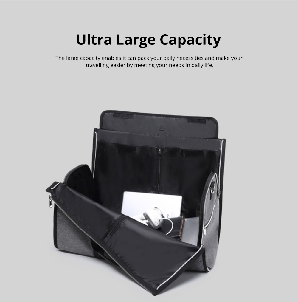 Waterproof Duffel Gym Bag for Men and Women Large Capacity Travel Suit Storage Bag with Muti Layers for Sports Business Trip 2