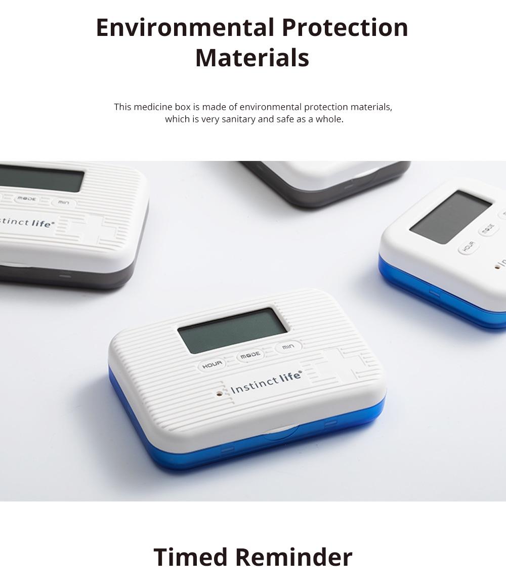 Electronic Intelligent Small Medicine Box Mini Medicine Box Week Medicine Storage Reminder Portable Sub Packed Small Medicine Box 1