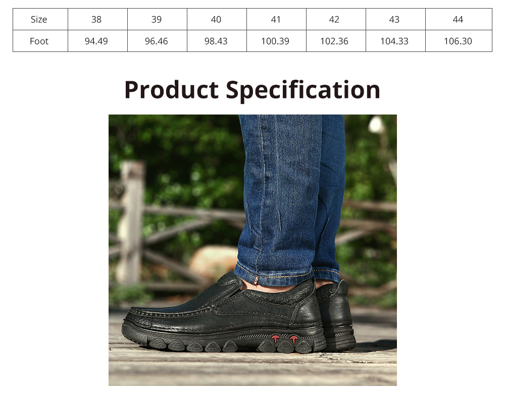 Men's First Layer Cow Leather Shoes Pure Leather Shoes Cuff Casual Shoelace Free Men's Shoes Suitable for Middle-aged and Elderly People 6