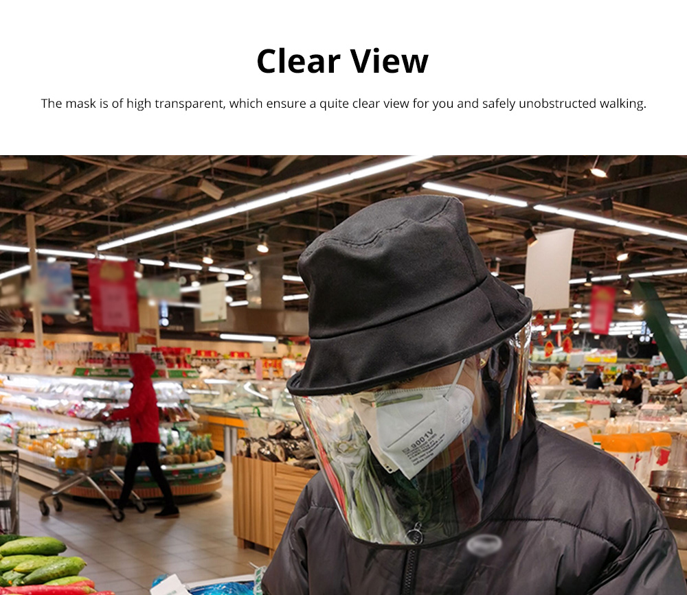 Protective Fisherman Hat with Face Shield Cover Anti-Spitting Dust proof Safety Travel Helmet for Outdoor Protection 4