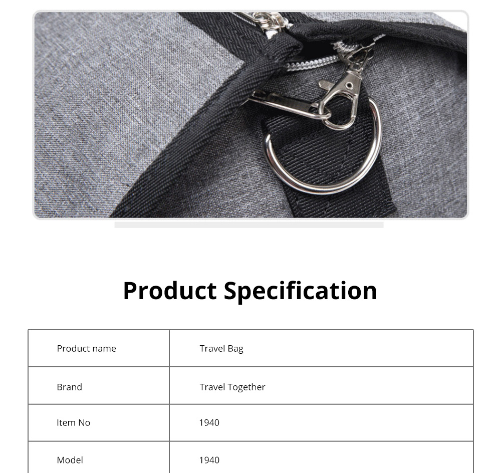 Waterproof Duffel Gym Bag for Men and Women Large Capacity Travel Suit Storage Bag with Muti Layers for Sports Business Trip 7