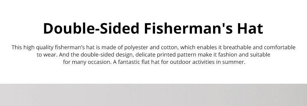 Double-Sided Flat Fisherman's Hat Printing Basin Fishing Hat For Men Women Outdoor Wearing Best Matching in Four Season 0