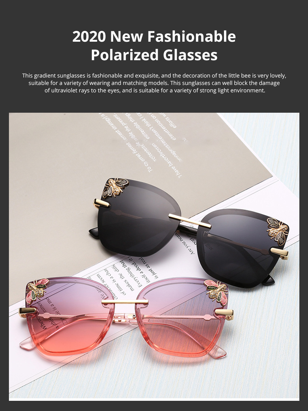 2020 New Fashionable Polarized Glasses Sunglasses for Women's Drivers Gradient Sunglasses 0