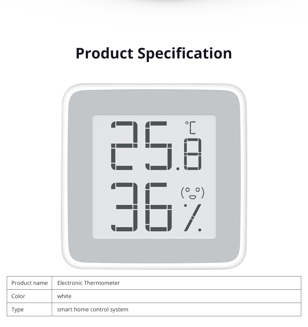Electronic Thermometer Digital Wet Thermometer with Ink Screen in Baby Room Intelligent Thermometer Hygrometer 5