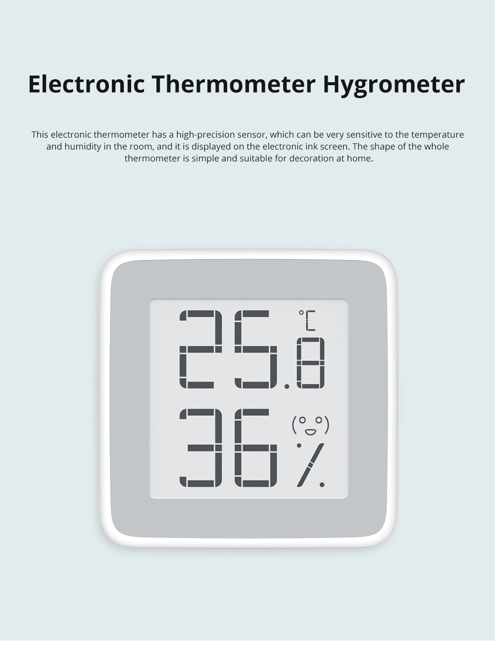 Electronic Thermometer Digital Wet Thermometer with Ink Screen in Baby Room Intelligent Thermometer Hygrometer 0