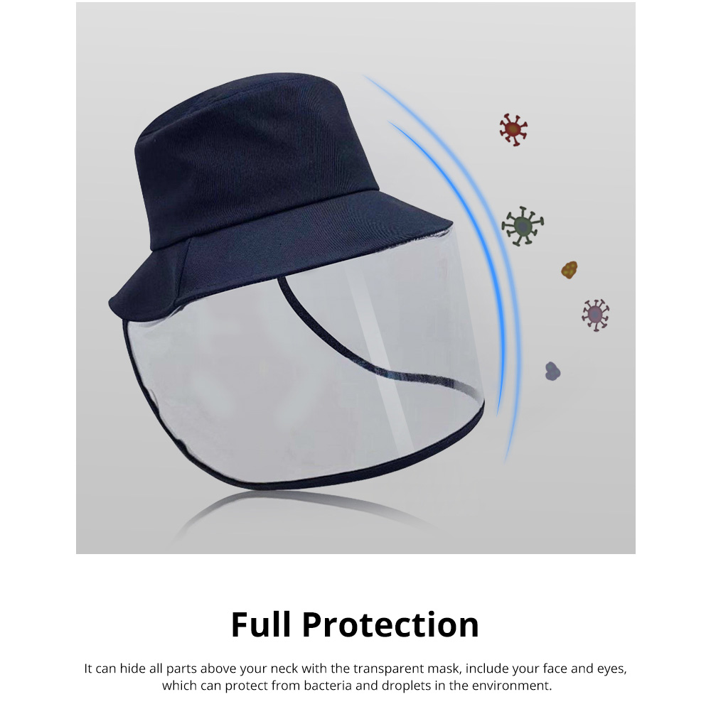 Protective Fisherman Hat with Face Shield Cover Anti-Spitting Dust proof Safety Travel Helmet for Outdoor Protection 2