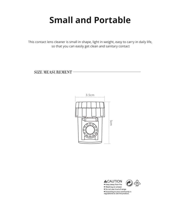 Contact Lens Manual Rotary Washer Mini Portable Color Contact Lens Box Portable Contact Lens Washer 1