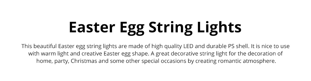 Colorful Egg String Lights Battery Powered Easter Decorative Led String Lights for Home Decoration Party Festival 0