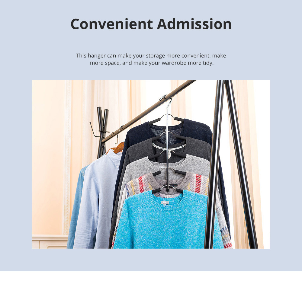 Sponge Anti-skid Multi-layer Clothes Shelf Stainless Steel Clothes Storage Rack Multifunctional Creative Clothes Hanger 5
