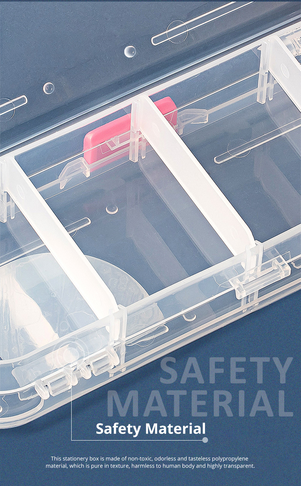 Large Capacity Plastic Transparent Pencil Box Pen Box Storage Box Double-layer Children Stationery Set for Students 1