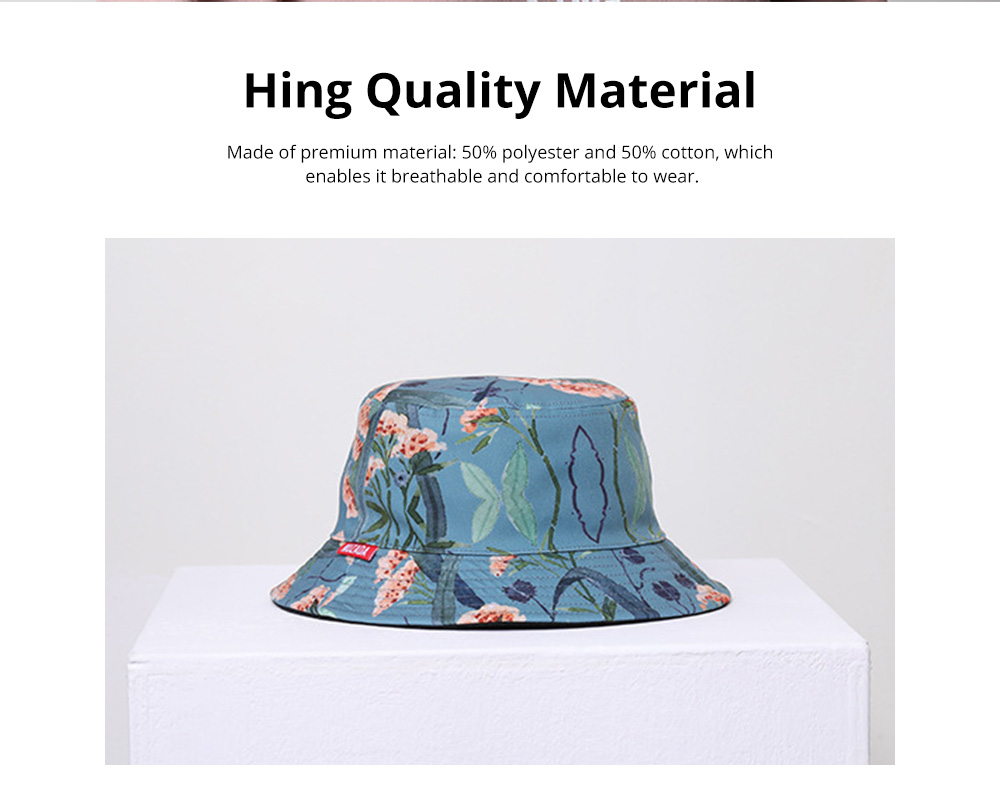Double-Sided Flat Fisherman's Hat Printing Basin Fishing Hat For Men Women Outdoor Wearing Best Matching in Four Season 2