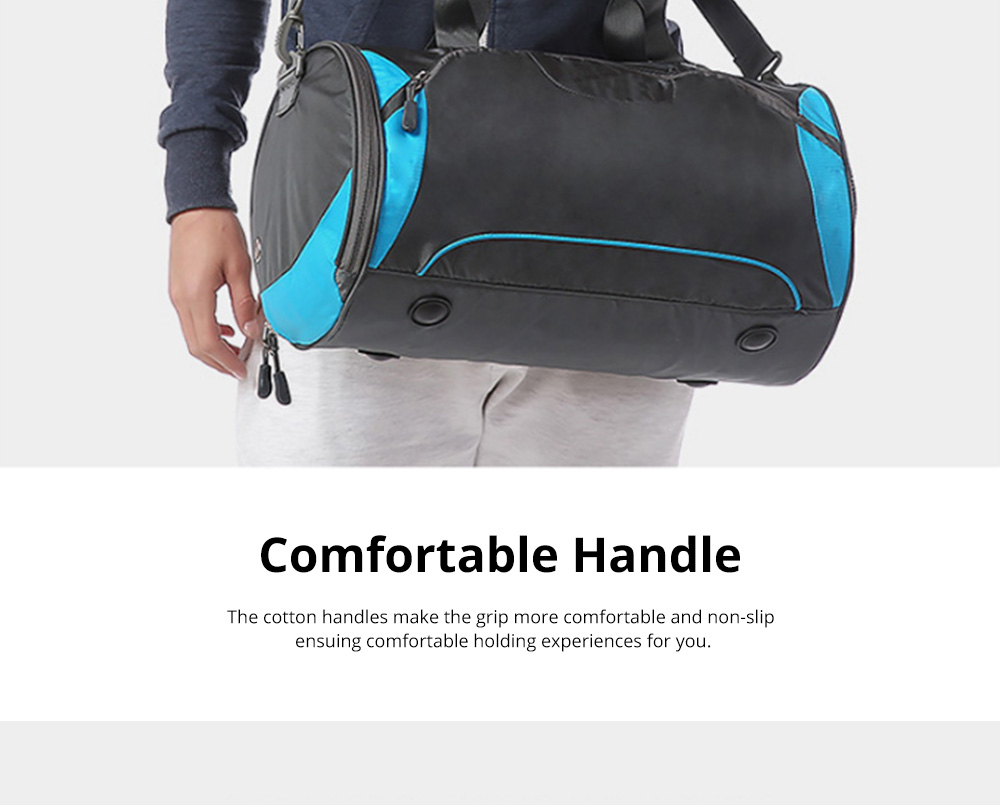 Fashion Waterproof Large Capacity Gym Sports Bag Traveling Bag Dry Wet Depart Handbag with Comfortable Handle Light weight 10
