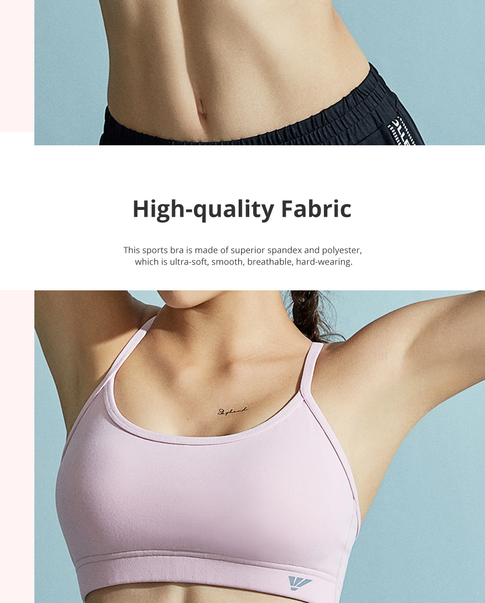 Stylish Minimalist One-Piece Withstand Low Impact Sports Bra with Breast Collection Two Ways of Sling Piercing 1