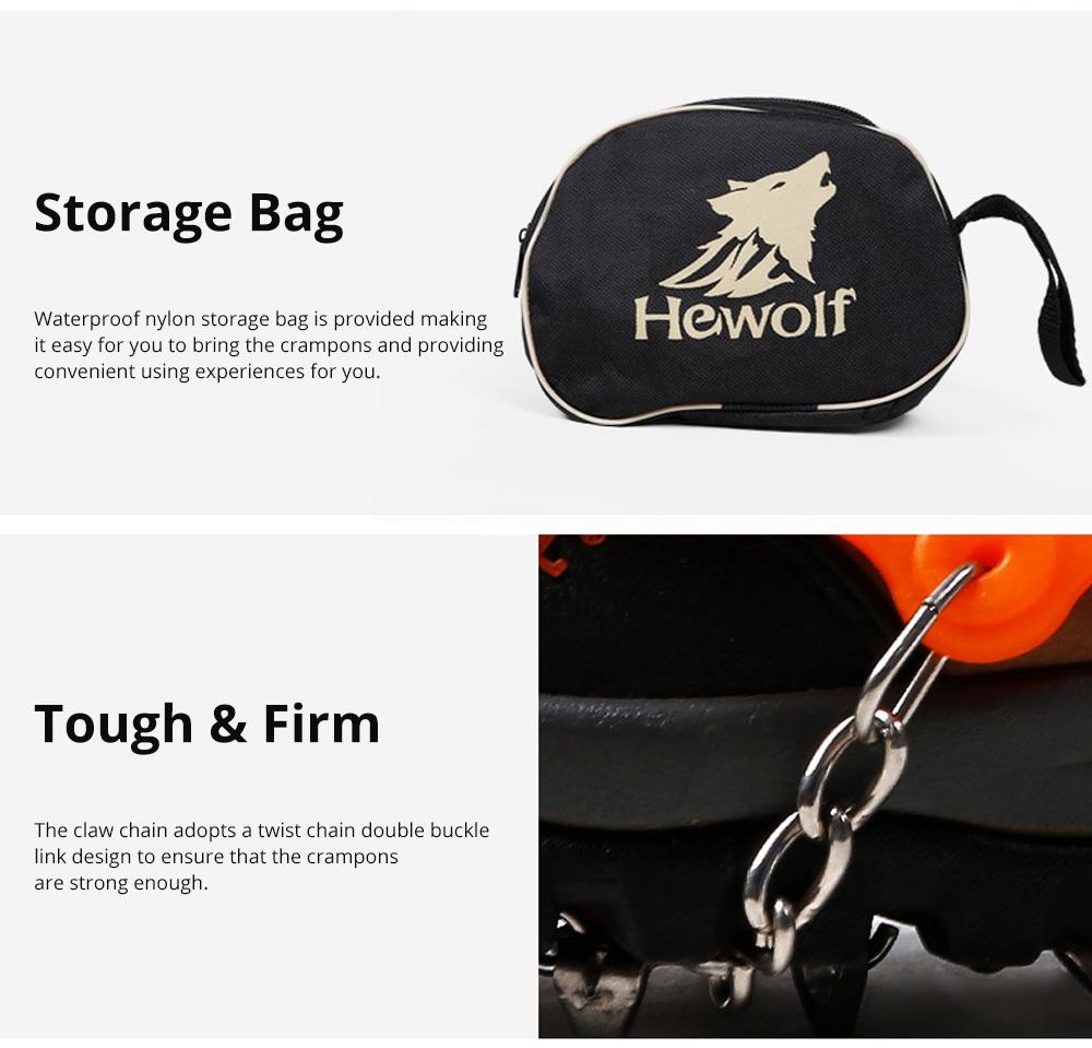 Professional Mountain Climbing Ice Surface Walking Hiking Adjustable Crampons Suit with Storage Bag 3