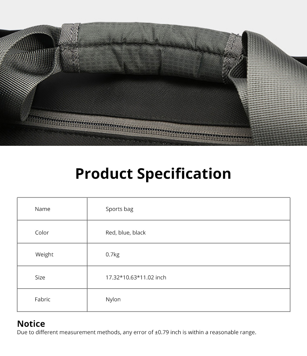 Fashion Waterproof Large Capacity Gym Sports Bag Traveling Bag Dry Wet Depart Handbag with Comfortable Handle Light weight 11