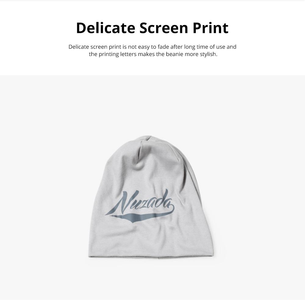 Stylish Minimalist Delicate Screen Print Warm Outdoor Sleeve Cap Knitted Beanie Hat Bonnet for Men Women 2