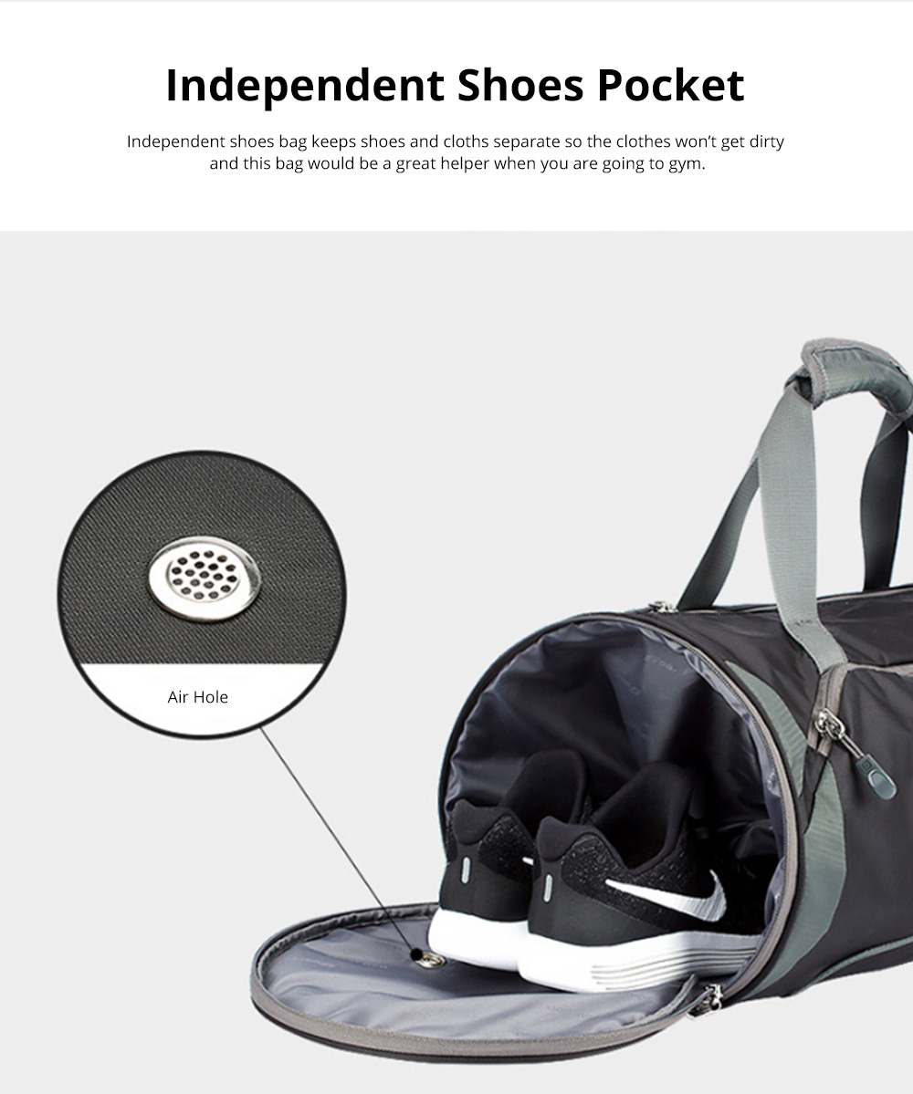 Fashion Waterproof Large Capacity Gym Sports Bag Traveling Bag Dry Wet Depart Handbag with Comfortable Handle Light weight 6