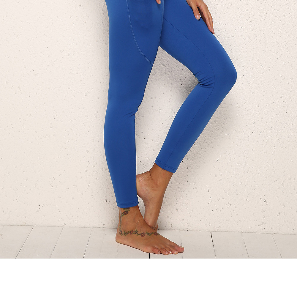 Minimalist Fashionable Functional Fit Slim Yoga Exercise Sports Leggings Tights Capris with Pocket for Women Ladies 3
